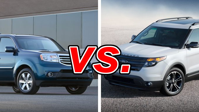 honda pilot vs ford explorer carsdirect