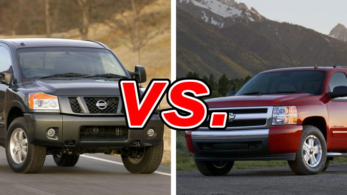 Nissan Titan vs. Chevrolet Silverado 1500 - CarsDirect