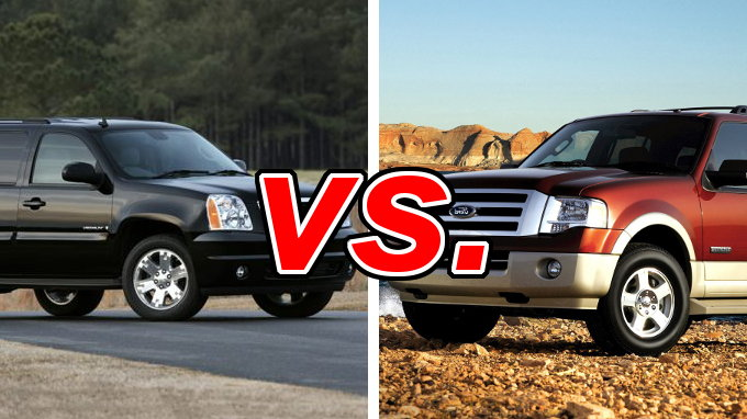 gmc yukon vs ford expedition carsdirect. Black Bedroom Furniture Sets. Home Design Ideas