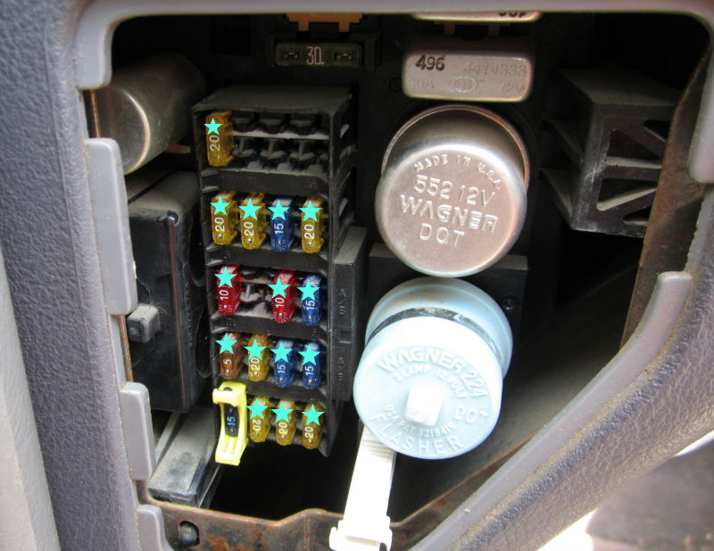 97 ram 1500 fuse layout - dodgeforum.com 1996 dodge ram 1500 fuse box