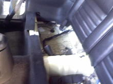 this is where all my wiring is hidden...you cant even see my subs after I'm done.