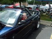 zach in mustang at cdc meet and greet