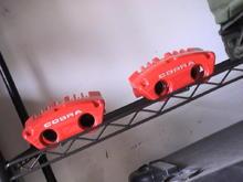 New powder coated cobra brakes