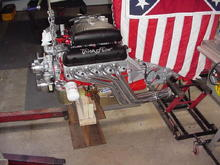 Custom 331 Stroker built by me. Scat 9000 Crank, Probe Forged Pistons, DSS Racing Aluminum Girdle w/ Alum Windage Tray, Trick Flow Track Heat Aluminum Heads, Trick Flow Stage 1 roller Cam, Trick Flow Roller Rockers, ARP Studs used on crank and heads, Trick Flow Intake, Canton Road Racing Oil Pan, Edelbrock High Flow Water Pump, Melling High Volume Oil Pump, ARP Oil Pump Drive Shaft, Ceramic Coated Full Length Headers w/Stage 8 Fasteners, 75 MM Throttle Body w/ Pro M 90 MM MAF Sensor, Custom March Pulleys, , Centerforce Dual Friction Clutch w/ Fandanza Aluminum Flywheel, Rattler Harmonic Balancer, 24 lb injectors, Aeromotive Adjustable Fuel Pressure Regulator, Braided Stailess Steel Lines, Custom T-5 with larger gears and sychros, ratios 2.95 1st and .83 5th