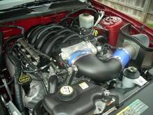 Ford 4.6L 3V SOHC Modular V8 w/ Variable Camshaft Timing  Mods: Steeda Cold Air Intake Kit, Bamachips 93 Race Tune, Duralast battery....