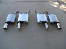 OEM GT mufflers vs. FRPP GTA mufflers
