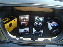 trunk setup for the car show