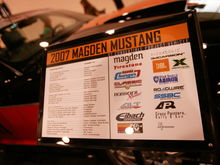 mustang tire sign showing our sponsors.