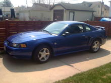 STOCK Mustang before starting to part it up !