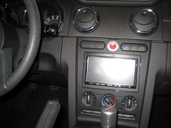 Installed start button