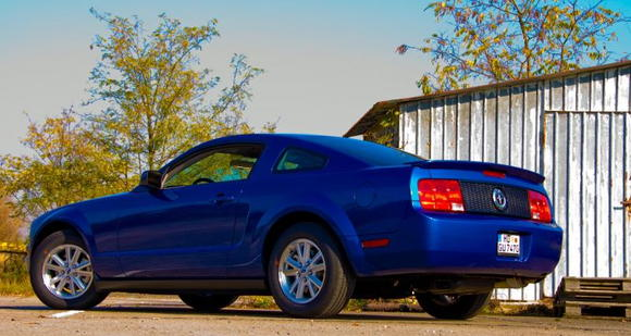 Sabine's Stang on 25 Oct 2008 with Silver Horse Racing Honeycomb Taillight Panel