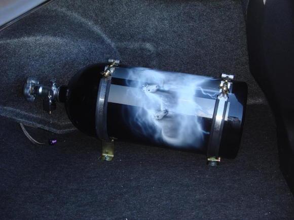 nos bottle custom air brushed