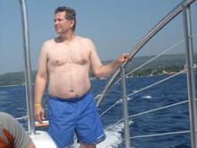 Sailing in Jamaica - fat man photo