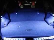 LED strip in trunk
