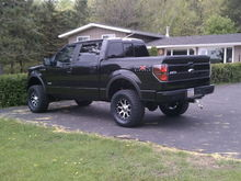 """4"""" Rancho, 18x9 KMC Addict ( 18mm offset) and 325/60R18 Nitto Terra Grapplers"""