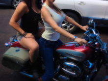 Best friend and her 2004 sportster 1200