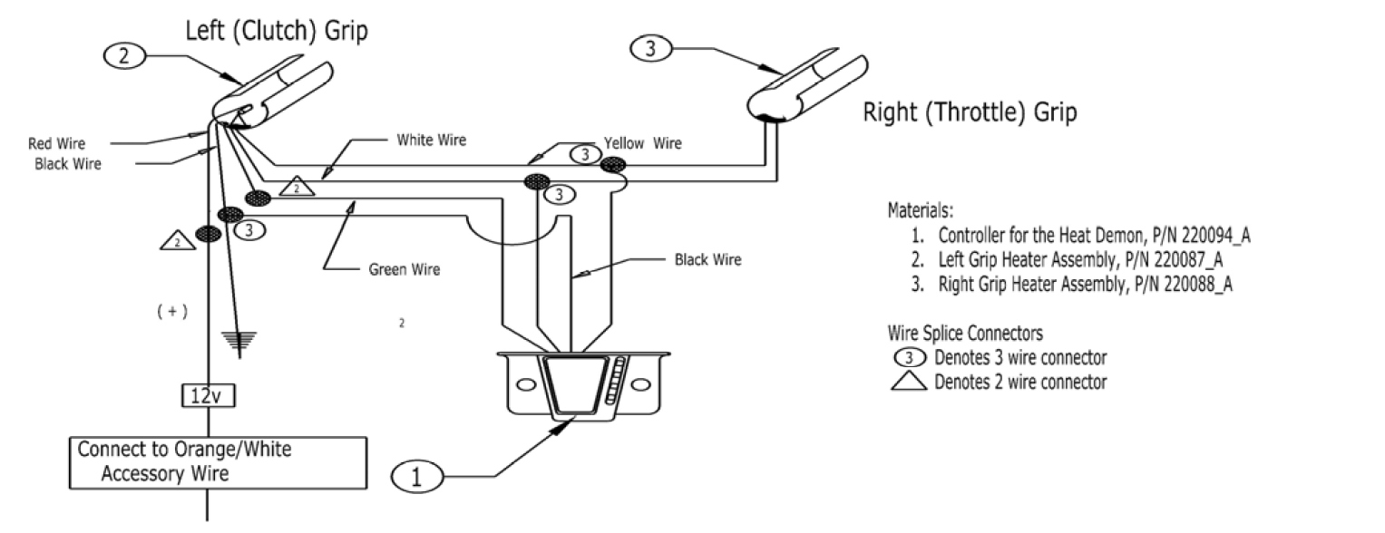 Heated grip wiring diagrams harley davidson motorcycle