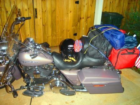My bike just before I leave on my trip at 5:00 a.m.