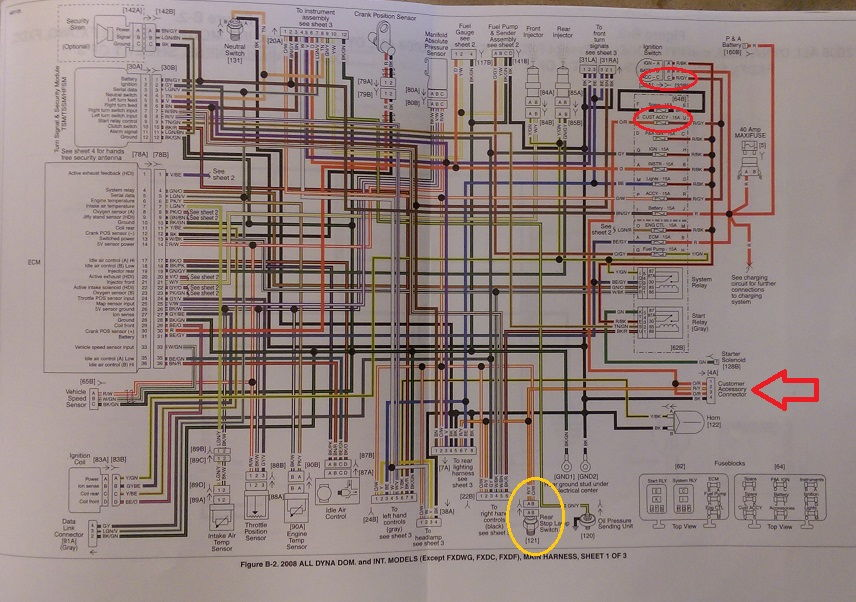 Road King Headlight Wiring Diagram : Harley road king wiring harness diagram headlight