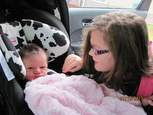 Loralei and Maggie's first time meeting! Loralei couldnt come to the hospital because the flu outbreak was so bad :(