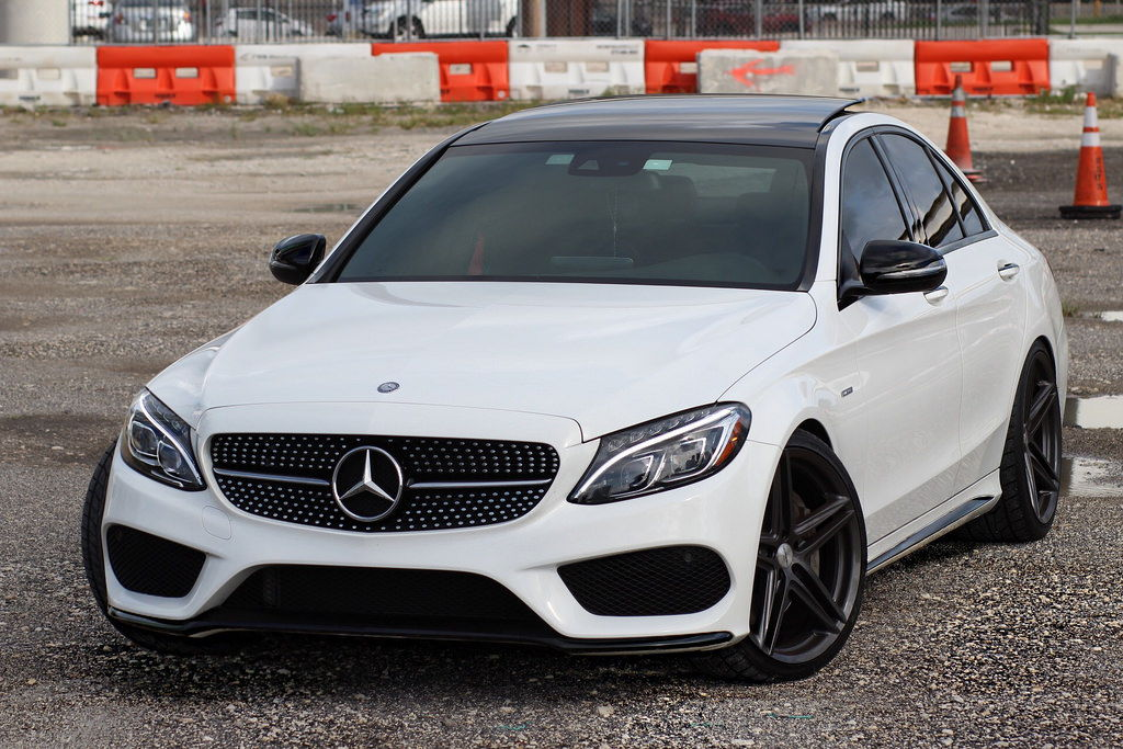 Mercedes c450 amg h r vossen vfs 5 20x8 5 10 for R h mercedes benz