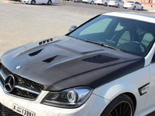 Mercedes c63 2013+ hood and lip Design By SSS Motor Sport Middle East