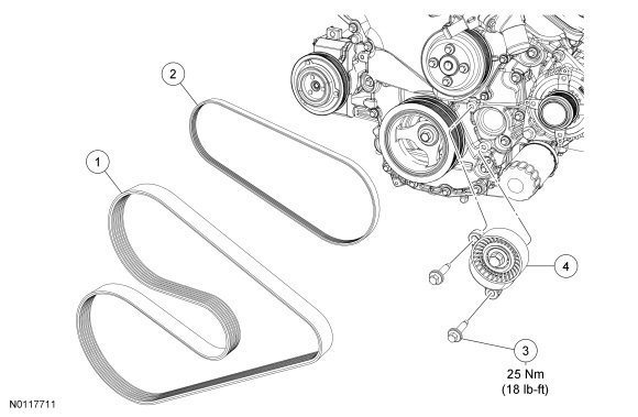 ford f150 f250 how to replace idler and tension pulleys ford engine belt and pulley diagrams