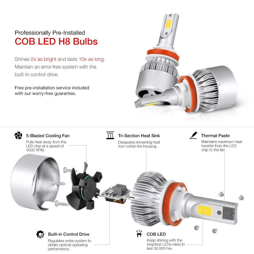 SOLD: Yellow LED Type-s Foglights