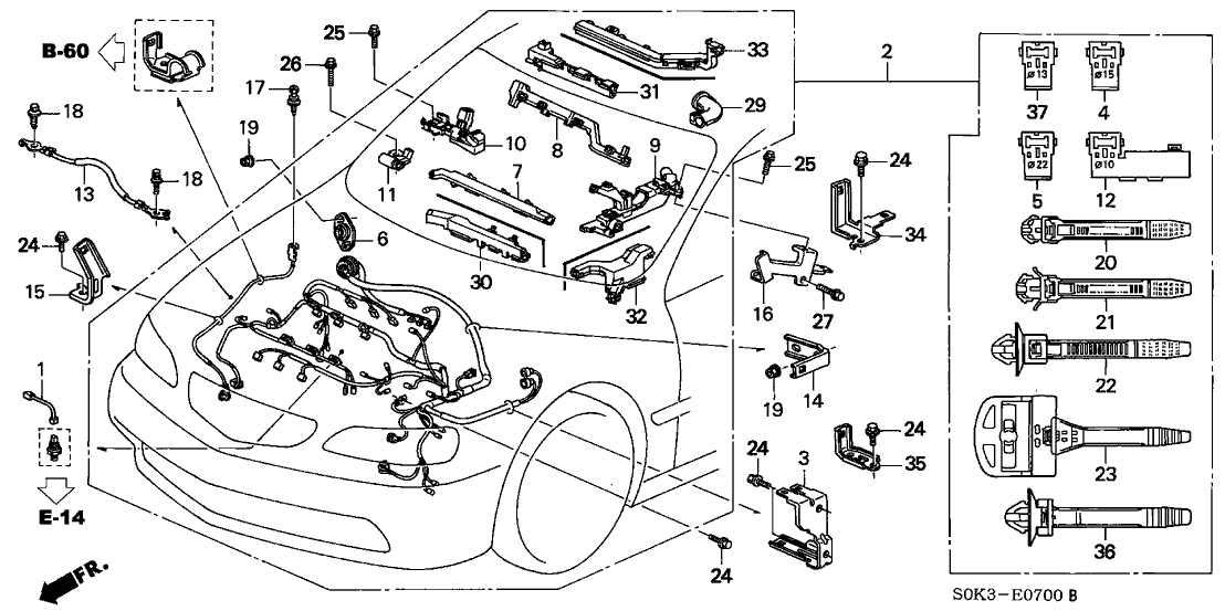 99 Acura Tl Engine Harness Diagram Needed