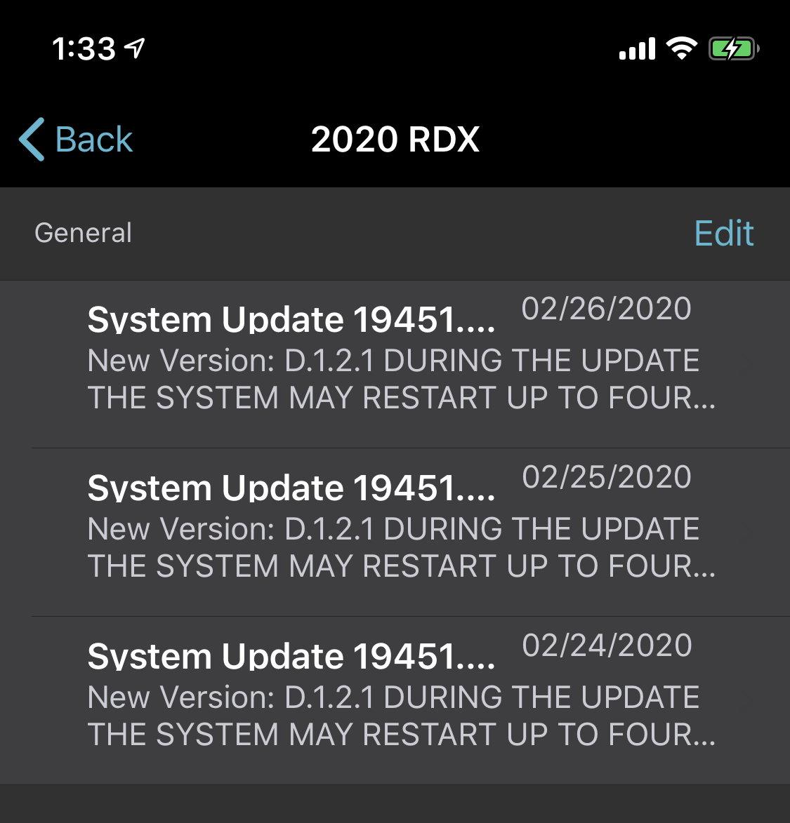 Software Update Released?