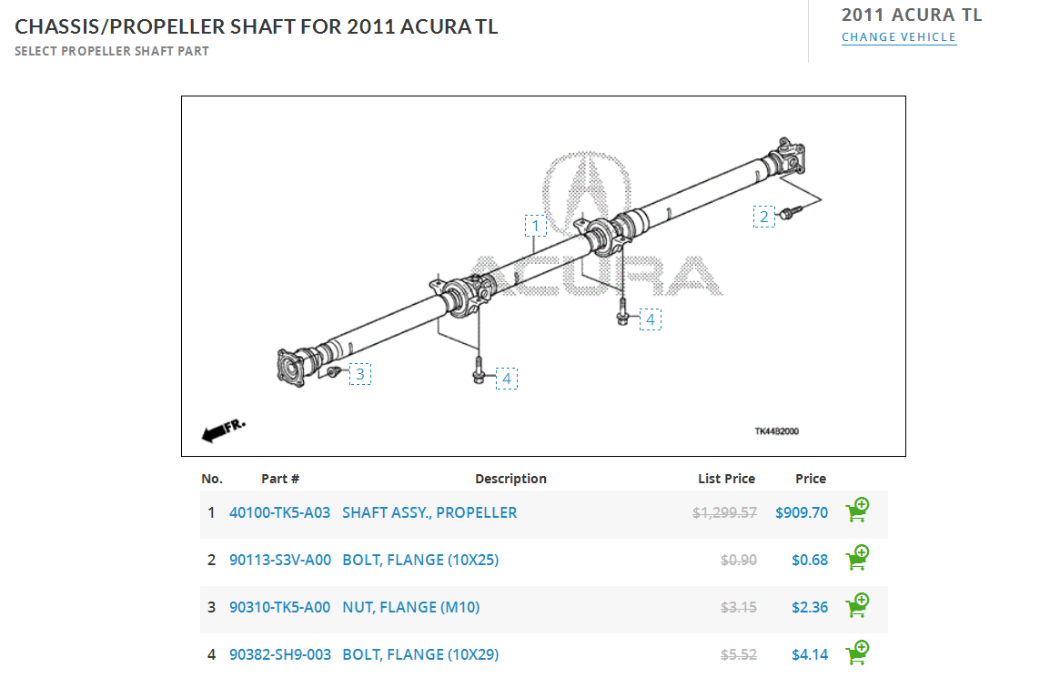 Propeller shaft TSB? - AcuraZine - Acura Enthusiast Community