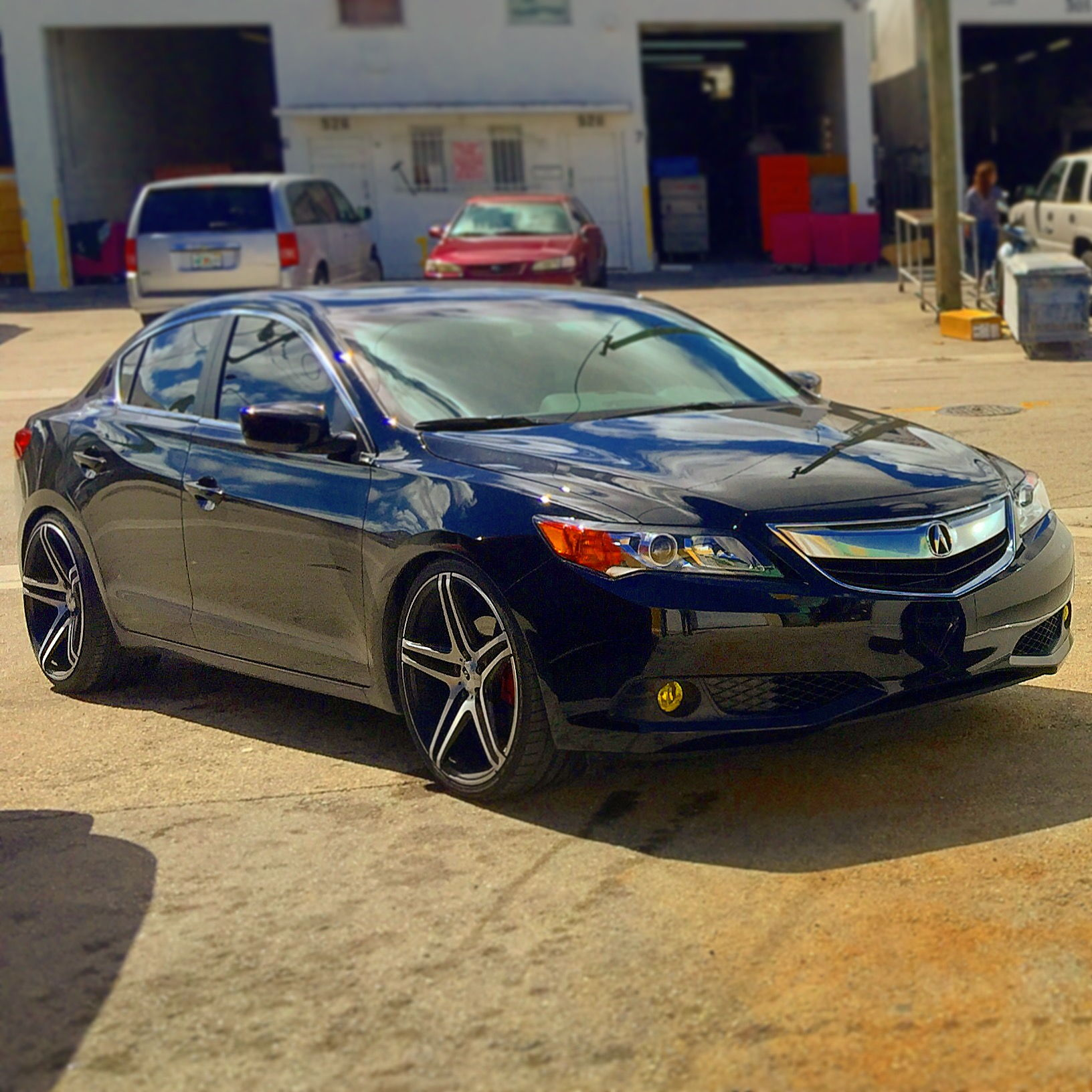 """(2015) 2.4 Acura ILX On 20"""" Rims Lowered With D2 Coilovers"""