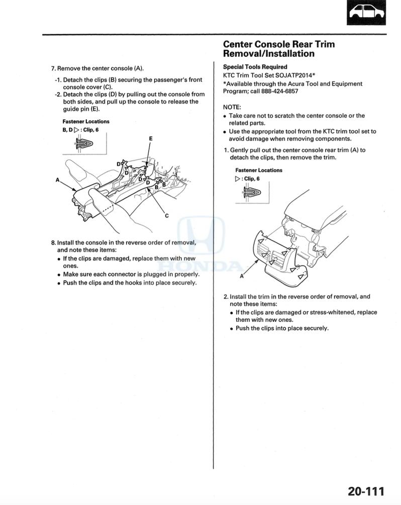 2011 acura tl gear shift console removal service manual for Consol service