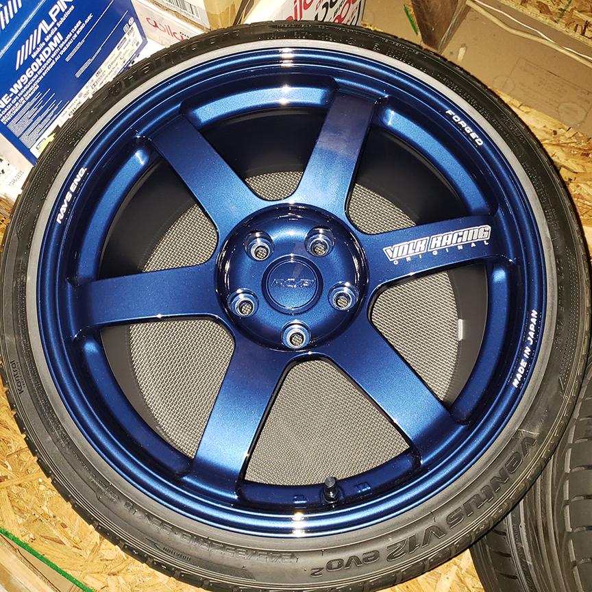 FS: 18x9.5 +38 5x114.3 Magnesium Blue Volk Racing TE37