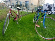 my blue bike has a friend..