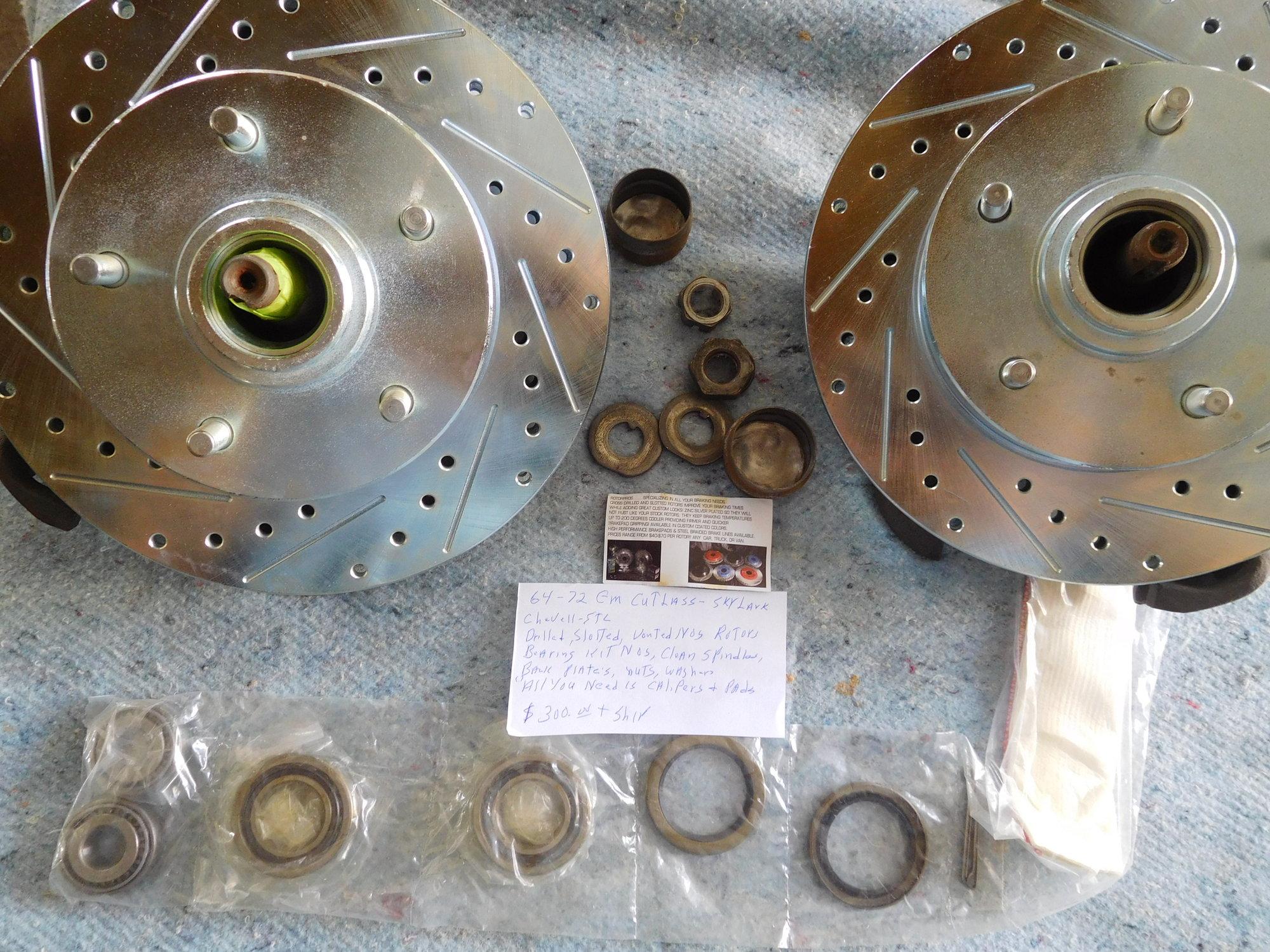 Disc Brake Set Up 64-72 Cutlass +