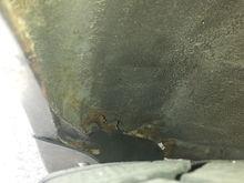 Left QP corner under side skirt