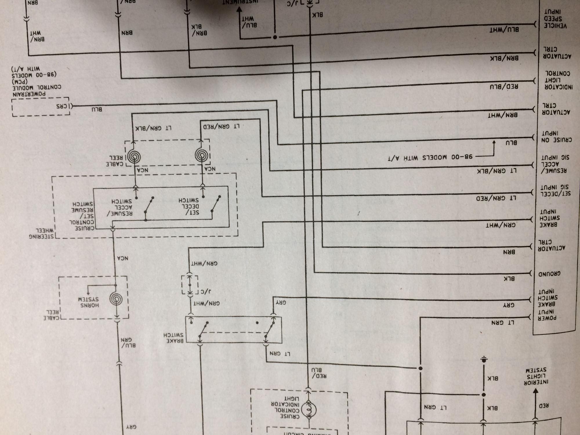 Electrical Wiring Diagram On Wiring Diagram 2000 Crv Cruise Control