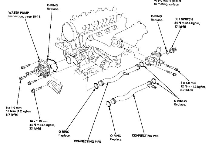 D16y8 Oil Pan Diagram