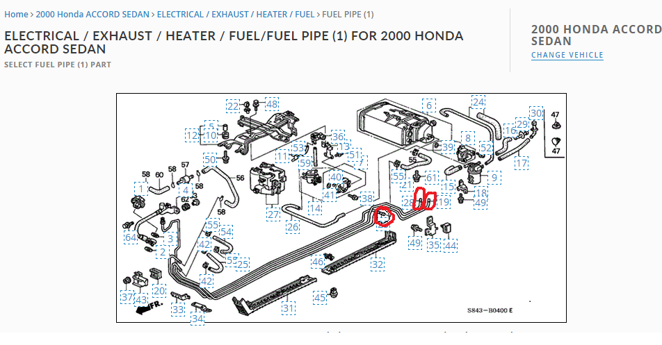2000 Accord Se Fuel Line Connections - Honda-tech