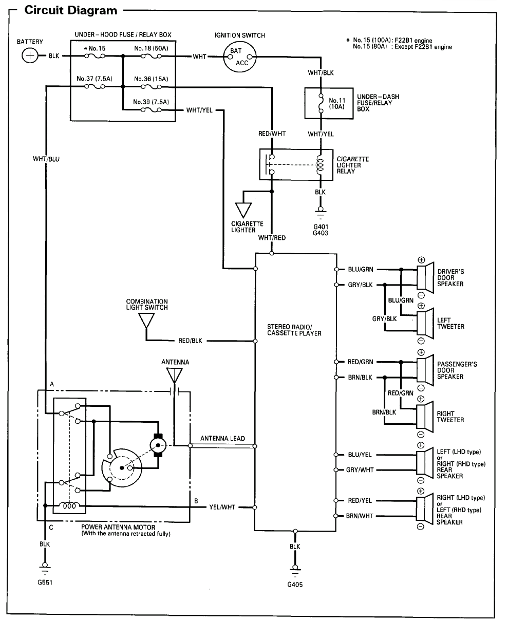 Radio Wiring Diagram 2001 Honda Accord Coupe Electrical For 2000 Backup Enthusiast Diagrams U2022 Rh Rasalibre Co