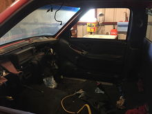 Got most of the interior gutted.