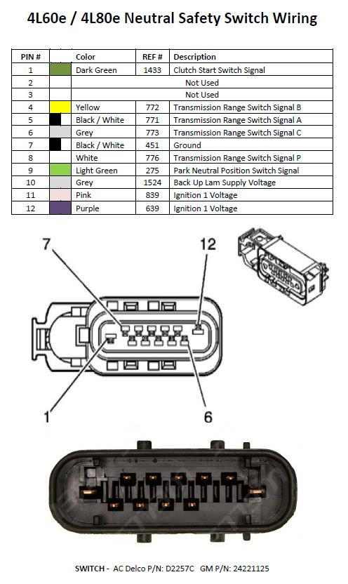 how to use the factory neutral safety switch on 4l80e ? ls1tech 4L60E Connector Wiring Diagram