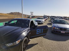 First Track Day. Streets of Willow. Sons white GT behind mine.