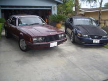 my 4 banger and my brothers 01 gt