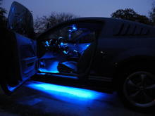 OPTX Underbody kit by StreetGlow, LEDGLOW Blue Interior kit and Blue LED Map lights.