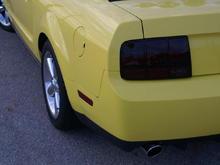 Yellow Mustang rear light
