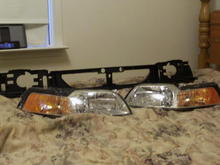 New headlights and mounting panel...