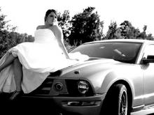 Wedding Pic with the Mustang