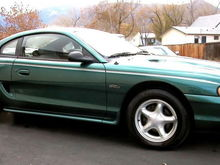 There she is. 96 Mustang GT. 5 speed manual.